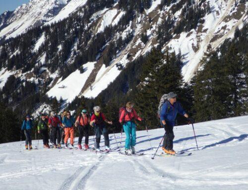 Frühlingserwachen im Reidige Garte – Skitour mit Bruno und Silvia 17.02.19
