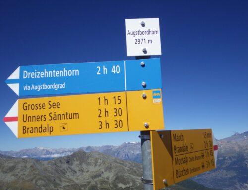 Dienstagspointe: Augstbordhorn 2971 m mit Arlette und Gallus | 03.09.2019