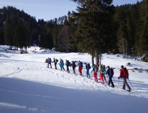 Schneeschuhwanderung: Jaun – Chalet du Soldat – Jaun mit Rita und Jean-Daniel   25.01.2020